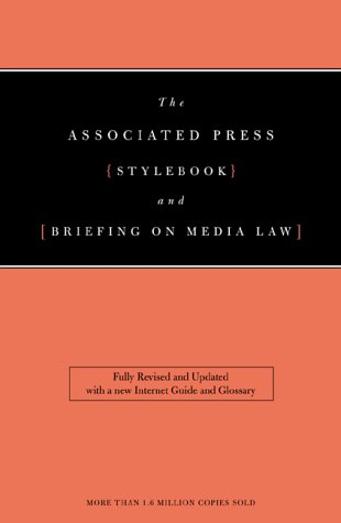 Associated Press Stylebook And Libel Manual 2000 Ed  Associated Press Stylebook And Briefing On Media Law