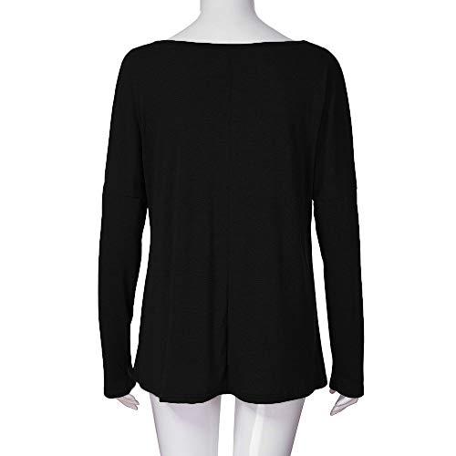 Neck Manches Mode Tops Pas Loose Blouse Femme Vetement Femme Longues Shirt Femmes Shirt V Vetement T Pull Grande Casual Femme POTTOA Ladies Blouse Manteau Cher T Noir Sweat Taille wBq4z7WI