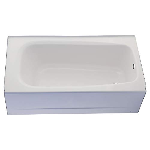 Apron Acrylic Standard American - American Standard 2460.002.020 Cambridge 5-Feet Bath Tub with Left-Hand Drain, White