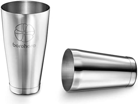 Boston Cocktail Shaker Stainless Steel Weighted Cups 2 Piece Set 27 /& 18 oz