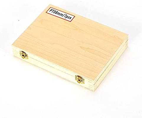 7PCS Turning Steel CNC Machine 8mm Turning Tool Toolholding w//Wooden Case USA Stock