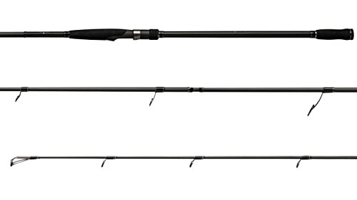 G-Rods Pro Striper Heavy 2Piece Spinning Graphene Fishing Rod, Black, 12'