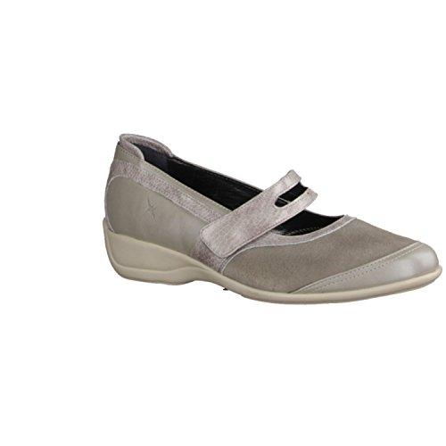 XSENSIBLE Palermo 100102801- Bequemschuhe/Lose Einlage Damenschuhe Bequeme Ballerina/Slipper, Beige, stretchleder (Sehr Dehnbar), Absatzhöhe: 25 mm