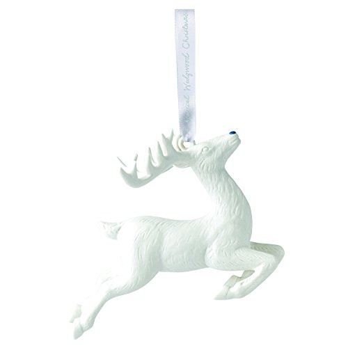 Wedgwood 2018 Annual Holiday Ornament Figural Reindeer, White (Ornaments White Christmas Deer)