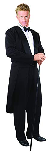 Charades Men's Adult Formalities Costume Tuxedo, Black,