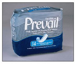 """Prevail® Male Guards Extra Absorbency Size: 6"""" x 13"""" 14/Bag"""