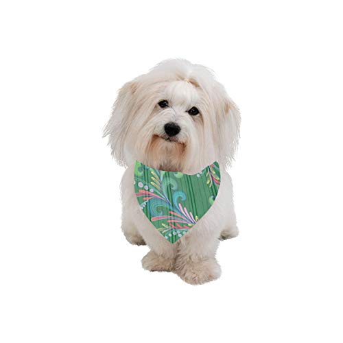 AIKENING Dog Scarf Glamour Design Creativity Printing Dog Bandana Triangle Kerchief Bibs Accessories for Large Boy Girl Dogs Cats Pets Birthday Party ()