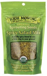 High Mowing Organic Seeds Sprouting Seeds Spicy Salad Mix 4 oz Pkts