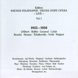 Wiener Staatsoper Live Vol. 1 by Koch Schwann (Germ.)