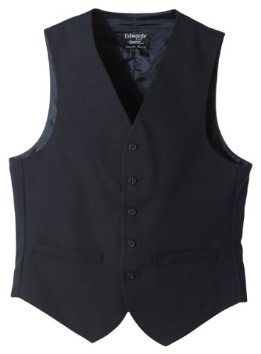 Edwards Garment Men's Fully Lined Wool Blend Dress Vest, Navy, Medium by Edwards Garment