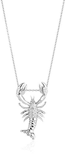 Roberto Coin 18K white Pave Diamond Lobster Tiny Treasure Necklace (Diamond Roberto Coin Necklace 18k /)