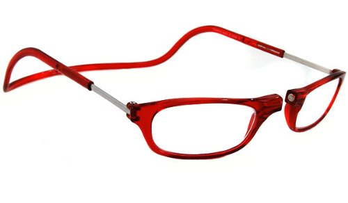 CliC Original Front Magnetic Connect Reading Glasses: Red