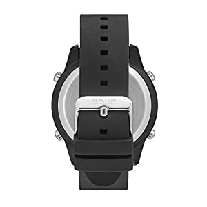 Kenneth Cole REACTION Men's 'Digital'  Metal/Stainless Steel and Silicone Quartz Casual Watch ( RK50548002/01)