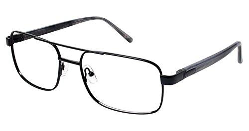 LAmy C by L'AMY 616 Eyeglass Frames - Frame SHINY BLACK, Size -