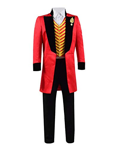 Qi Pao Kids Greatest Showman Barnum Performance Uniform Halloween Outfit Cosplay Costume (Little Boys 4T, Red Black) for $<!--$99.99-->