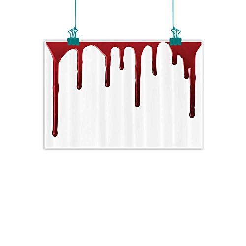WinfreyDecor Bloody Simulation Oil Painting Flowing Blood Horror Spooky Halloween Zombie Crime Scary Help me Themed Illustration Decorative Painted Sofa Background Wall 24