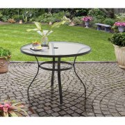 Mainstays Heritage Park Round Dining Table, - Mainstays Umbrella