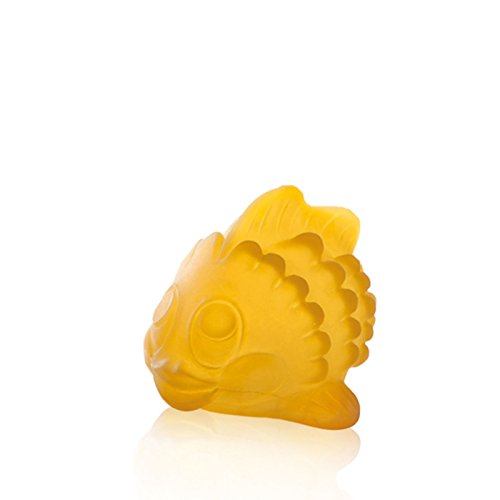 HEVEA Polly the Fish Bath Toy BPA, phthalates, and PVC-free, natural rubber, no holes