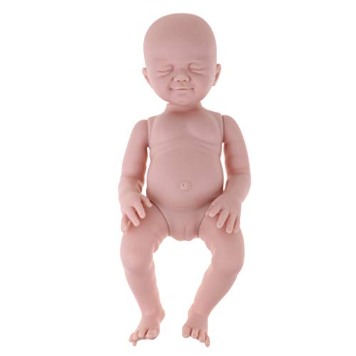 Fenteer Unpainted Reborn Doll Kits for 20inch Girl Baby Dolls Full Silicone Body