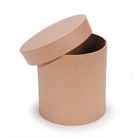 (Darice Paper Mache Box - Round with Lid - 6 x 6 inches)