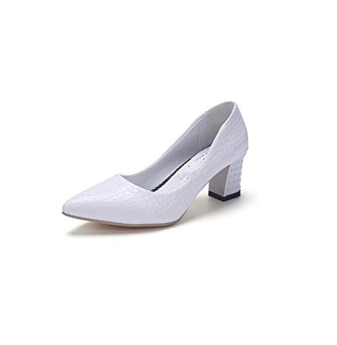 GanQuan2018 Women Pointed Toe High Heels Shallow Slip on 2.36 Inch Thick Heel Female Pumps