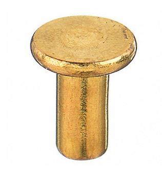 1//8 X 1//4 Flat Head Brass Rivets; 100 PCS Box
