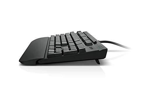 Lenovo 700 Multimedia Keyboard with 7 Programmable Hot Keys, Ergonomic, 2 USB Passthrough Ports, Adjustable Tilt…