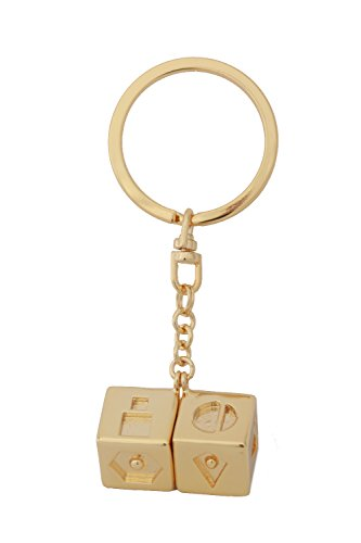 xcoser Han Solo Lucky Dice Keychain Props Jewelry