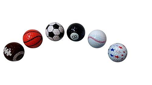 Value Novelty Golf Ball Mix - Calidad de menta - (Paquete de 50)