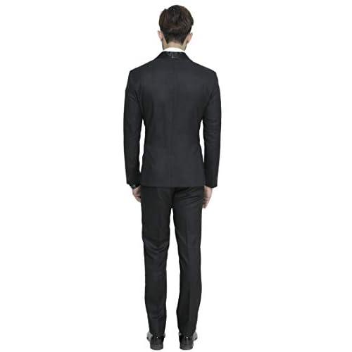 314TlWJqWwL. SS500  - MANQ Men's Slim Fit Tuxedo Suit (Pack of 2)