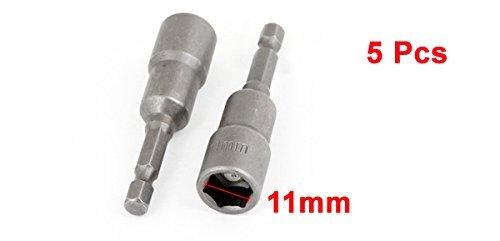 eDealMax a13080600ux0037 1/4 caña hueca hexagonal de 11 mm Tuerca ...