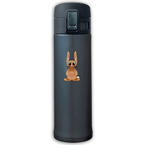 Brown Bunny Man Carried Stainless Steel Bounce Cover Thermos,Outdoor Space Bottle