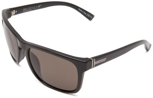 VonZipper Lomax Polarized Square Sunglasses,Black Gloss,One Size - Kickstand Black Gloss