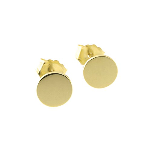 Automic Gold Solid 14k Yellow Gold Circle Earrings, (14k Yellow Gold Circle Earrings)