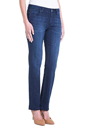 Liverpool Women's Sadie Straight Jeans in Silky Soft Stretch Denim in Estrella, 8 (The Best Of Liverpool)