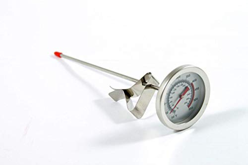 Lotus Stores Stainless Steel Bi-Metals Kettle Deep-Fry Chicken Wings Bbq Grill Thermometer (8 Inch (20°-280°))