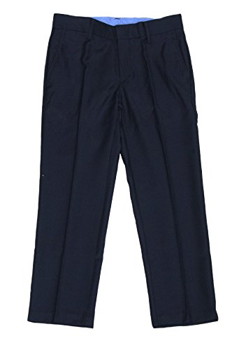 IZOD Big Boys Husky Flat Front Dress Pant (Navy, 20H) (Navy Pants Wool Suit)