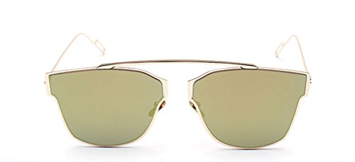 GAMT Women and Men Designer Mirroer Lens Sunglasses - Wayfarer Small Sunglasses 47mm