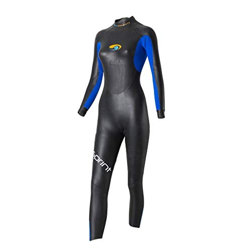 blueseventy 2019 Women's Sprint Triathlon Wetsuit - for Open Water Swimming - Ironman & USAT Approved (WM) (Man With No Arms Or Legs Fishing)