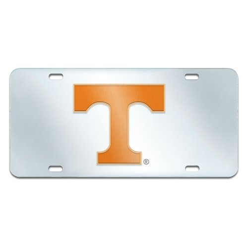 FANMATS NCAA University of Tennessee Volunteers Plastic License Plate (Inlaid)