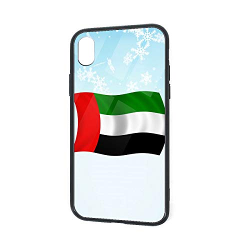 Flag of The United Arab Emirates Adult iPhone XR TPU Glass Phone Case Shock-Absorption Bumper Cover 6.1 Inch -