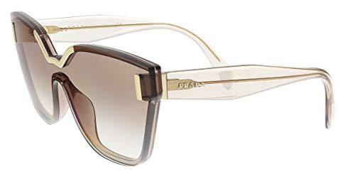 Prada Women's 0PR 16TS Light Brown/Gradient Brown Mirror Silver One ()