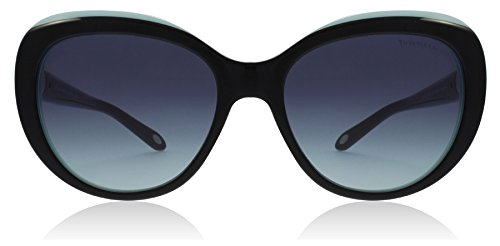 Tiffany TF4122 8055/9S Black/Blue TF4122 Cats Eyes Sunglasses Lens Category 3 - Cat Sunglasses Tiffany Eye