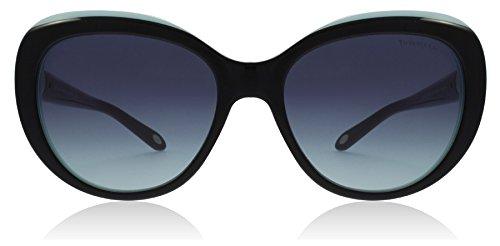 Tiffany TF4122 8055/9S Black/Blue TF4122 Cats Eyes Sunglasses Lens Category 3 - Sunglasses Tiffany Eye Cat