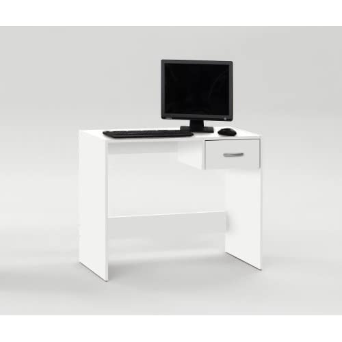 PAUL White Finish Office Computer Desk/Workstation / Study Table