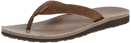 Teva Women's Classic Flip Leather Diamond Sandal, Toasted Coconut, 6 M US