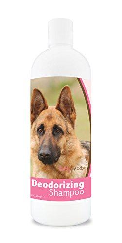 Healthy Breeds Dog Deodorizing Shampoo For German Shepherd - Over 200 Breeds - For Itchy Sensitive Dry Flaking Scaling Skin & Coat - Hypoallergenic Formula & Ph Balanced - 16 Oz