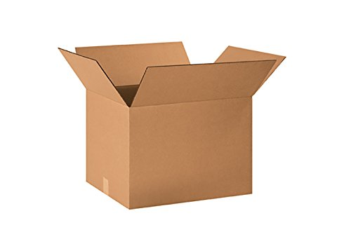 RetailSource Corrugated Boxes, 20'' x 16'' x 12'', (16' Flat Pack)