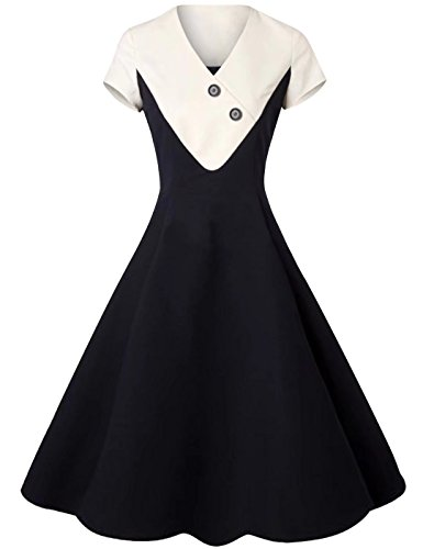 ivory and black cocktail dress - 6