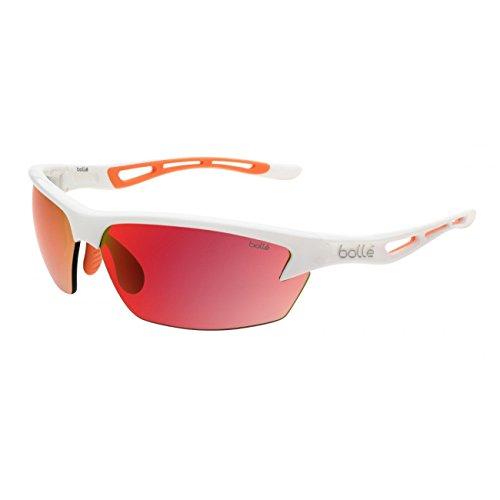 2d85f1d56c81b Bolle Bolt Sunglasses, TNS Fire Oleo, Shiny White